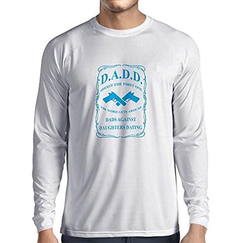 Maman Papa Fille Halloween - T-Shirt Manches Longues Homme Les papas contre