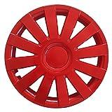 (Größe wählbar) 15 Zoll Radkappen / Radzierblenden AGAT Rot passend für fast alle Fahrzeugtypen – universal