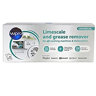 NEW Limescale & Detergent Remover for All Dishwashers and Washing Machines - Genuine Indesit Hotpoint Professional collection - Replace old Part numbers: C00089780 , C00091077 , C00091561 (Box of 12)
