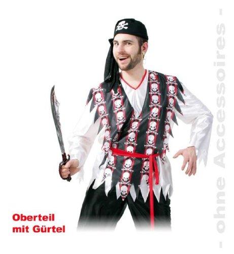 en Oberteil mit Gürtel Gr L XXL (Piraten Tanz Kostüm)
