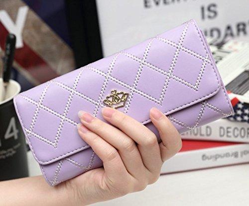 Sac à main pour femme josep.h - Long portefeuille avec couronne, tendance violet