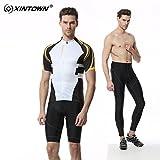 Été respirant Quick Dry Léger Hommes confortables à manches courtes + Shorts rembourrés Ensemble cycliste Ensemble d'équitation Sportswear ( Size : M )
