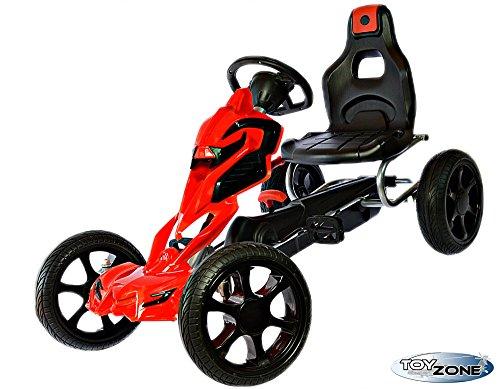 Kinderfahrzeug Tretfahrzeug Pedal Go-Kart Tretauto EVA-Reifen rot