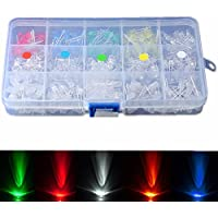 Bluelover 300Pcs 5 Mm Led Diodos Amarillo Rojo Azul Verde Blanco Surtido Diy Kit De Luz