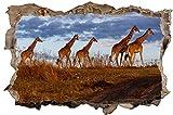 Giraffe Outback Safari Wandtattoo Wandsticker Wandaufkleber D0723 Größe 100 cm x 150 cm