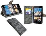 HTC Desire 728G // Buchtasche Hülle Case Tasche Wallet