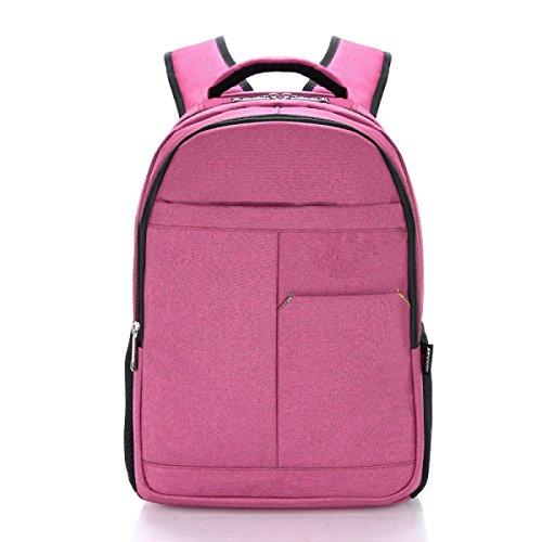Unisex In Nylon Zaino Messo Portatile Sotto 16 Pollici,Pink-OneSize Pink