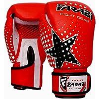Niños guantes de boxeo, guantes de boxeo junior, junior, MMA, muay tailandés, kickboxing y bolso de perforación manoplas 6 oz por Farabi