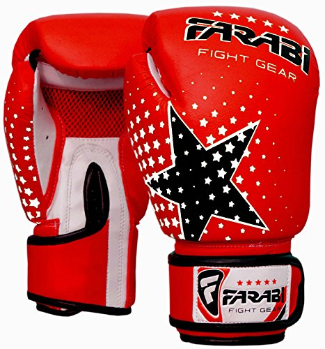 Niños guantes de boxeo