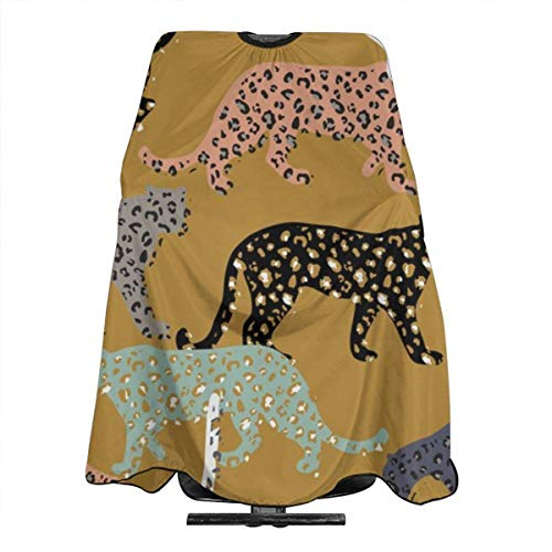 Africa Africa Leopards Gold Jumbo Haircut Hairdressing Cape Cloth Apron Hair Styling Hairdresser Cape Barber Salon -