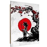 Feeby. Wandbilder - 1 Teilig- 40x60 cm - Bilder Kunstdrucke Deko Panel, Saiyan Under The Sun - DDJVigo, Anime, Grau