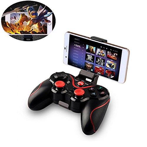 Preisvergleich Produktbild Szjsl Bluetooth Game Handle, Bluetooth Gamepad Ladegerät Draht Wireless Rechargeable Game Controller Unterstützung für Smartphone, Pad, TV, TV-Box mit Android Platform 3.2 und oben