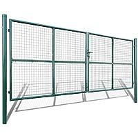 vidaXL Verja mallada para el jardín, 415 x 200 cm / 400 150