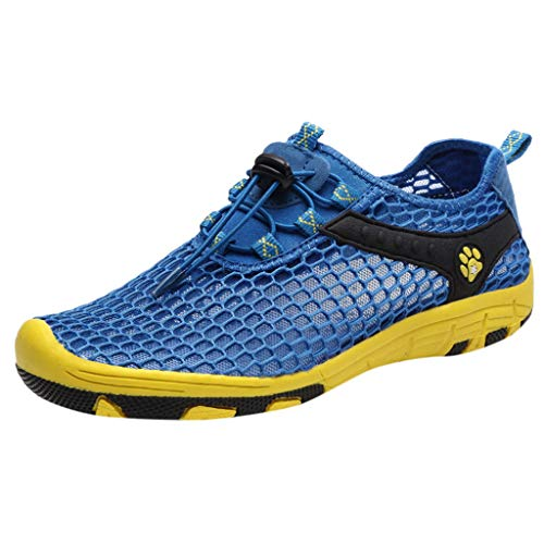 REALIKE Herren Sneaker Arbeitsschuhe Stahlkappe Sicherheitsschuhe Atmungsaktiv Leicht Sportlich Trekking Wanderhalbschuhe Mesh Schutzschuhe Hiking Schuhe Mode Freizeitschuhe