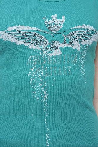 Aeronautica Militare Damen Shirt Top LOGO Tuerkis