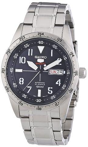 Seiko Herren-Armbanduhr XL Automatik Analog Edelstahl