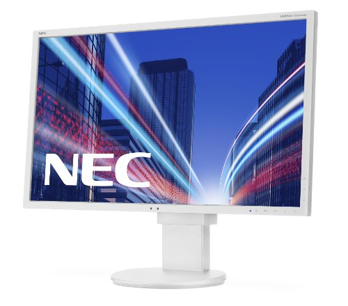 NEC EA224WMI 55,9 cm (22 Zoll) Widescreen TFT-Monitor (LED, DVI, VGA, HDMI, 14ms Reaktionszeit) weiß Widescreen Flat Panel
