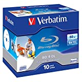 Verbatim BD-R DL 50GB 6X Wide Printable 10pk - lege Blu-Ray Discs (Jewelcase)