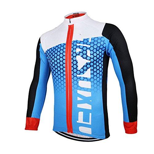 TeyCo Men Athletic Breathable Sport Jersey Blue XXXL