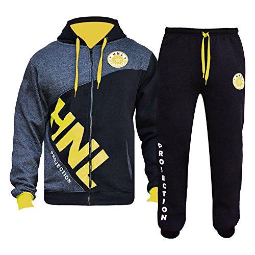 A2Z 4 Kids® Mädchen Designer Trainingsanzug HNL Reißverschluss - T.S HNL Dady Yellow 11-12