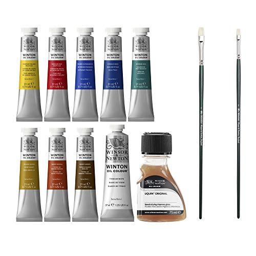 Winsor & Newton 1490691 Winton Ölfarben Set, hohe Pigmentkonzentration, gute Deckkraft und Tönungsstärke, 8 Ölfarben in 21 ml Tuben