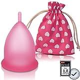 CozyCup Menstruationstasse CLASSIC klein - Made in Germany - zertifizierte Menstruationstassen Größe 1, Rosa