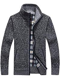 BIRAN-55 Herren Herbst Winter Warm Mantel Klassisch Strickwaren Baumwolle  Sweatshirt Stehkragen Hochwertig Único Kaschmir 91d0900578