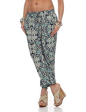 Pantalones Harem para mujer Pantalones casuales de verano ligero Pantalones Aladdin Beach Pluder Bloomers Jeggings...