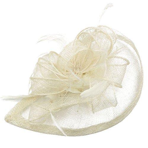 SStaste Sinamay Fascinator Hut Tea Party Hats Pillendose Hat Derby Hat für Frauen