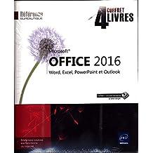Microsoft® Office 2016 - Coffret de 4 livres : Word, Excel, PowerPoint et Outlook