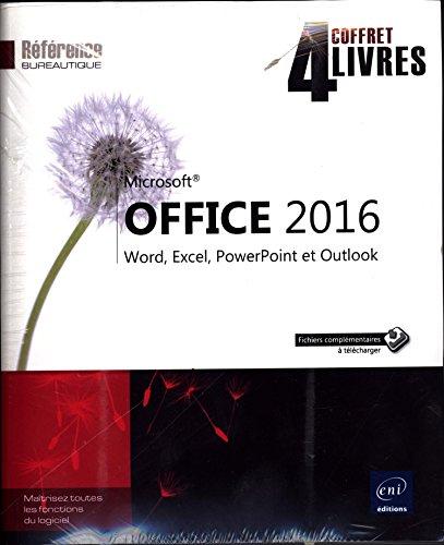 Microsoft® Office 2016 - Coffret de 4 livres : Word, Excel, PowerPoint et Outlook par Collectif