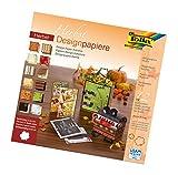 Folia 10449–Diseño Bloc de papel de otoño, 30,5x 30,5cm, 12hojas surtidos
