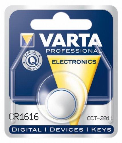 Varta CR 1616 bouton Lithium 3V 55 mAh sous Blister de 1