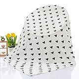 OHBABYKA Baby Musselin Swaddle Decke Tücher- 115x115 cm Feder Design Baby Bambus Baumwolle Swaddle Wrap ▪ Junge & Mädchen ▪ Baby Mulltücher, Stoffwindeln (Flasche)