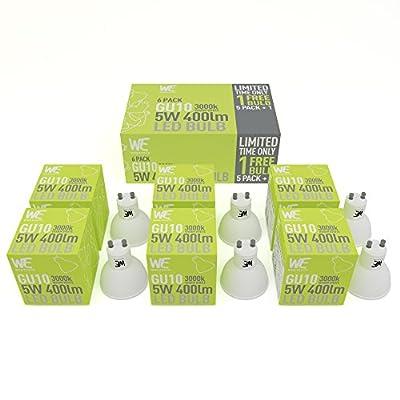 GU10 LED-Leuchten 5W im 6er-Pack KOSTENLOSER VERSAND Warmweiß GELD-ZURÜCK-GARANTIE 3000k, 400 Lumen, Entspricht 50W Halogen-Leuchte, Gewindelos, Beste LED-Leuchten im Bestand – Natürliches Tageslicht
