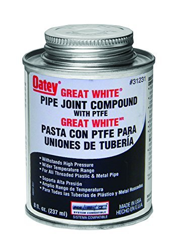 Oatey 31231 Pipe Joint Compound with PTFE with Brush, 8 fl.Ounce by Oatey -