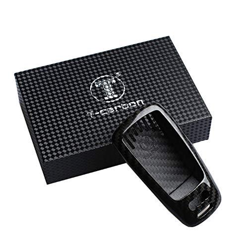 FancyAuto Étui pour clé en fibre de carbone compatible avec clé de voiture Audi 16 17 A4L A4 A5 TT S5 (noir)