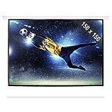 FrontStage PSBB-80 • Beamer Leinwand • Projektor Leinwand • Heimkino Leinwand • 150 x 150 cm • Bilddiagonale 203 cm • 80 Zoll • Format 1:1 • einfache Montage • robustes Metallgehäuse • weiß