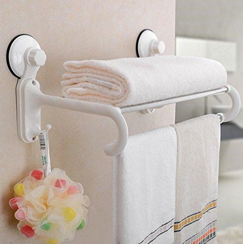 SDKIR-Potente anello magico ventosa asciugamano da bagno rack montato a parete tubo in acciaio inossidabile 60cm portasciugamani