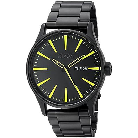 Nixon A3561256-00 - Orologio da polso uomo, acciaio inox, colore: nero