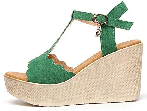 Sandales de dames, chaussures de mode de dames et des sandales de déclencheurs Green
