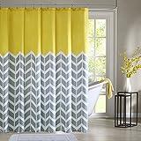 Intelligent Design ID70-219 Nadia Shower Curtain 72x72 Yellow,72x72 by Intelligent Design