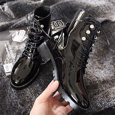 pwne Donna Stivali Comfort Vacchetta Fall Winter Casual Nero 1A-1 3/4In Black Us8 / Eu39 / Uk6 / Cn39 US8 / EU39 / UK6 / CN39
