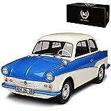 BOS Trabant P50 500 Limousine Weiss Blau 1958-1962 1/18 Modell Auto mit individiuellem Wunschkennzeichen