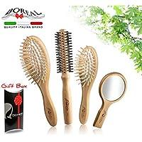 THE ORIGINAL BRUSH BOX: spazzole per capelli 100% MADE IN ITALY in legno naturale antistatiche. Ottima idea regalo.