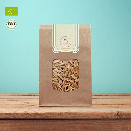 süssundclever.de® | Walnüsse Bio | Walnussbruch | 1kg hochwertiges Naturprodukt | unbehandelt und 100% natürlich | plastikfrei und ökologisch-nachhaltig abgepackt | Walnusskerne