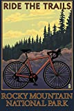 Rocky Mountain National Park, CO – Mountain Bike, Papier, multi, 12 x 18 Art Print