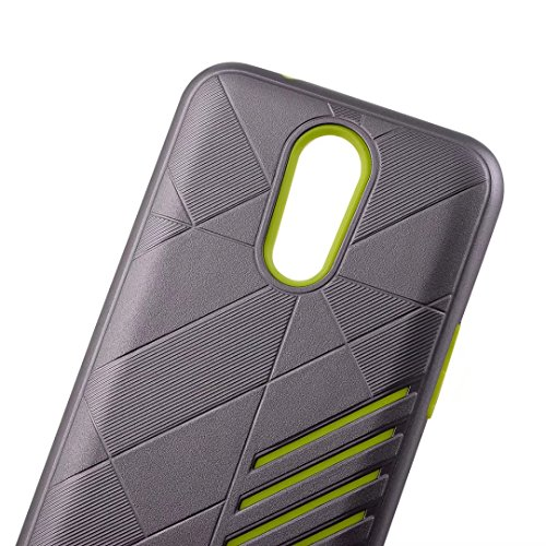 YHUISEN LG K10 (2017) Case, 2 In 1 Armor Tough Style Hybrid Dual Layer Armor Defender PC + TPU Schutzhülle für LG K10 (2017) ( Color : Gray Green ) Gold