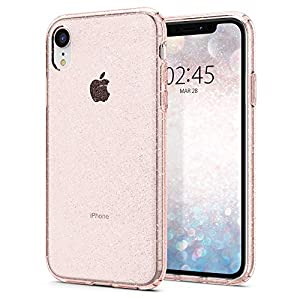 Spigen [Liquid Crystal Glitter] iPhone XR Case with Light but Durable Flexible Clear TPU Protection for iPhone XR 6.1-inch (2018) - Rose Quartz