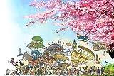 Puzzle House- PT Totoro Ghibli Comic, Jigsaw Puzzle in legno, Capolavoro Hayao Miyazaki, Fine Cut & Fit, 300/500/1000 Pezzi Giocattoli per fotografia in miniatura Gioco Art Painting Per adulti e bamb